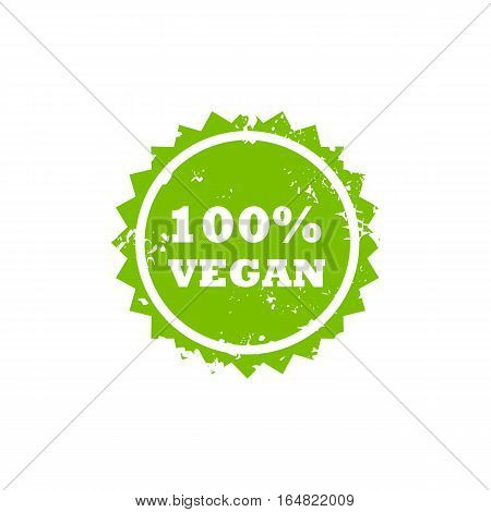 VEGAN grunge stamp sign vector. Color is easily changed.