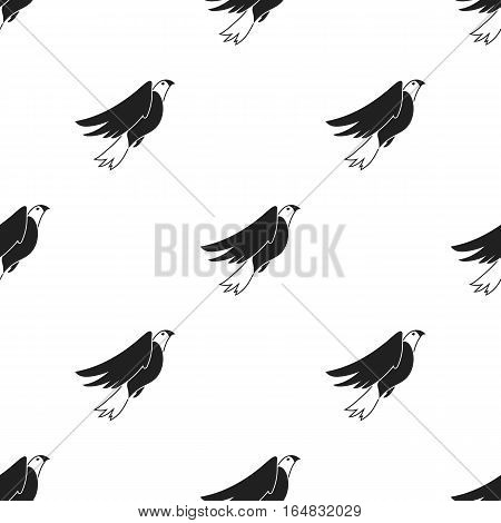 American eagle icon in black style isolated on white background. Patriot day pattern vector illustration.