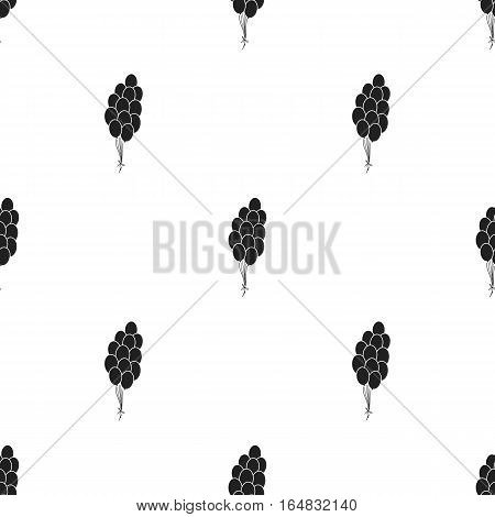 Patriotic balloons icon in black style isolated on white background. Patriot day pattern vector illustration.