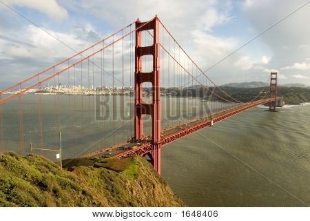 Golden Gate View From Marin County