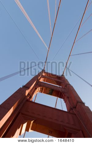 Golden Gate Looking Up To Tower Abstract