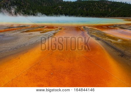 Grand Prismatic Springs, Yellowstone National Park, Wyoming