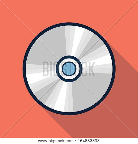 Vector compact disk icon, design element for mobile and web applications, eps 10