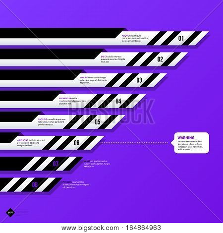 Vector Chart Template With Horizontal Elements. Useful For Presentations And Advertising.