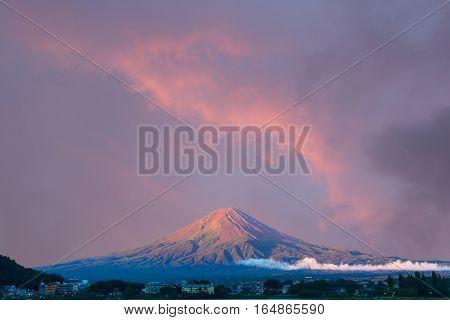 Mt Fuji Morning Wide Sunrise Sky Hotels