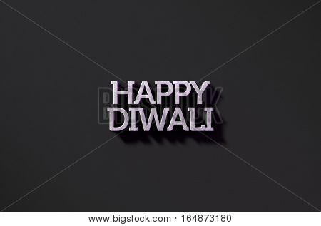 Happy Diwali Text On Black