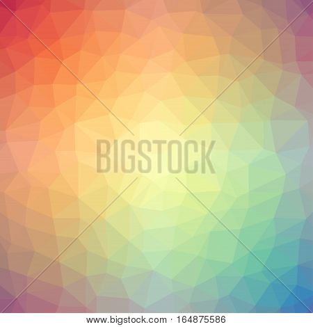 Light rainbow triangle gradient background. Vector illustration
