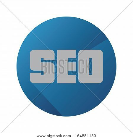 Vector Flat SEO Analysis With Long Shadow And Blue Background