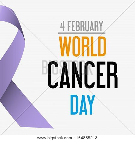 World Cancer Day Celebration Of Cancer Awareness Eps10