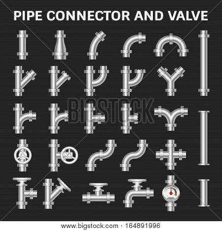 Pipe connector or pipe fitting and meter for plumbing and piping work.