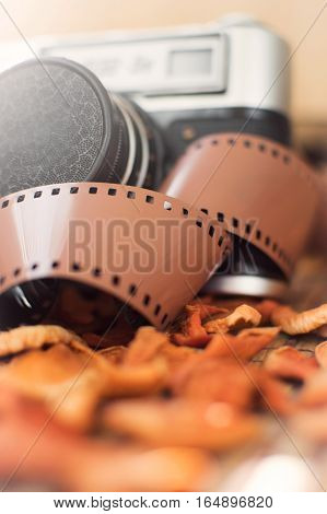 film camera closeup popular in the past.
