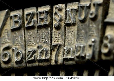 Old Typewriter Machine Close-Up