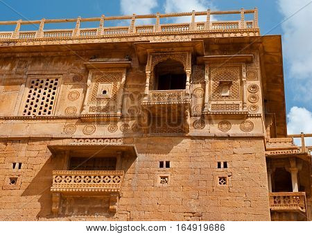 Residential house on the Jaisalmer Fort Jaisalmer Rajasthan India