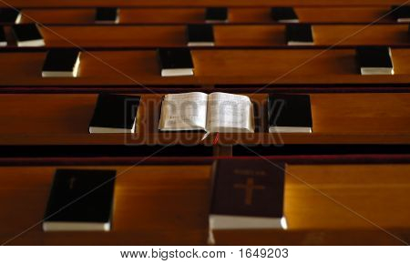 Open Bible In The Church