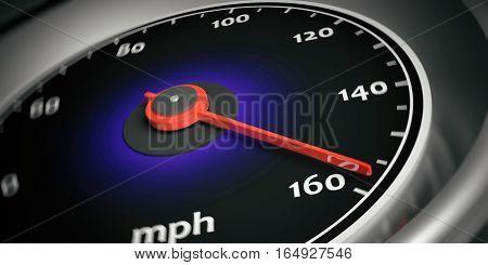 3D Rendering Car Speedometer
