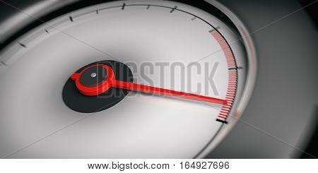 3D Rendering Car Speedometer Empty