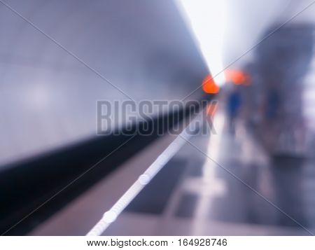 Diagonal moscow metro station bokeh background hd