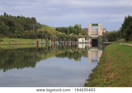 Eckersmuehlen lock on the Rhine Main Danube Canal.