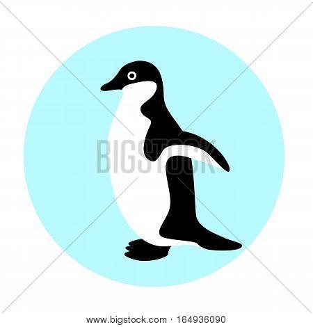 Penguin vector illustration style Flat  side profile