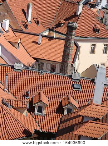 Many Tiles On The Roofs Of The Houses