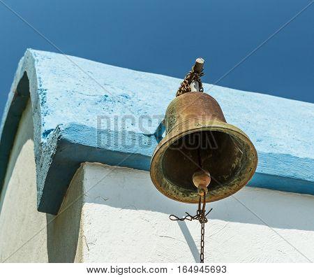 Bell of Old Prophet Elias Church, Greece