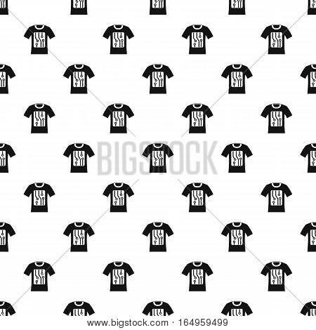 Sensor electronic t shirt pattern. Simple illustration of sensor electronic t shirt vector pattern for web
