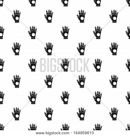 Electronic glove pattern. Simple illustration of electronic glove vector pattern for web