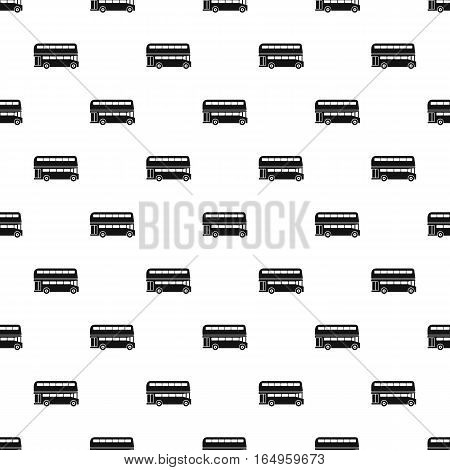London double decker bus pattern. Simple illustration of london double decker bus vector pattern for web