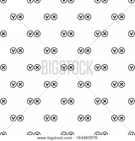 Circular check mark symbols pattern. Simple illustration of circular check mark symbols vector pattern for web
