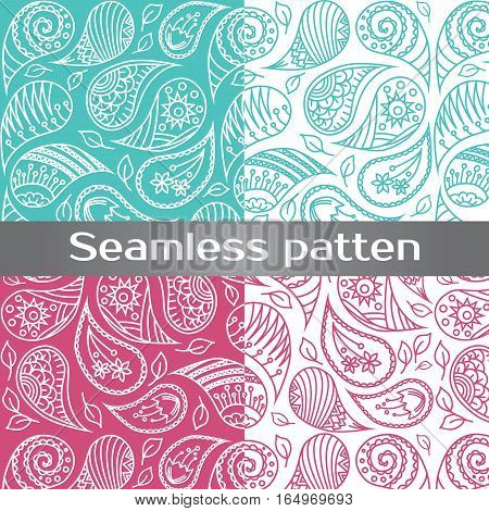 Seamless colorful vector pattern with spring flowers.Floral patten. Vector flowers pattern. Colorful floral background. Floral elements. Textile floral pattern. Spring background.