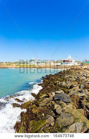 Kanyakumari Oceanfront Memorials Coastline V