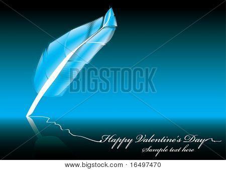 Letra de día de San Valentín escribió por una hermosa pluma