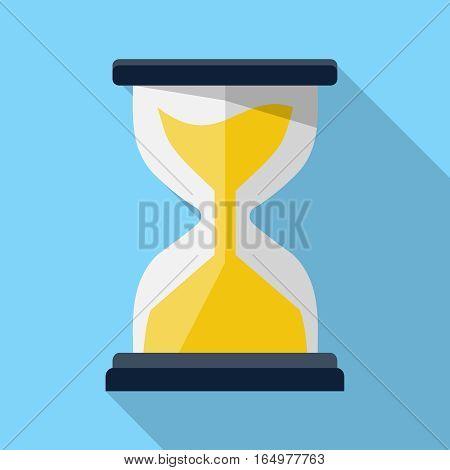Sand clock illustration, design element for mobile and web applications, eps 10