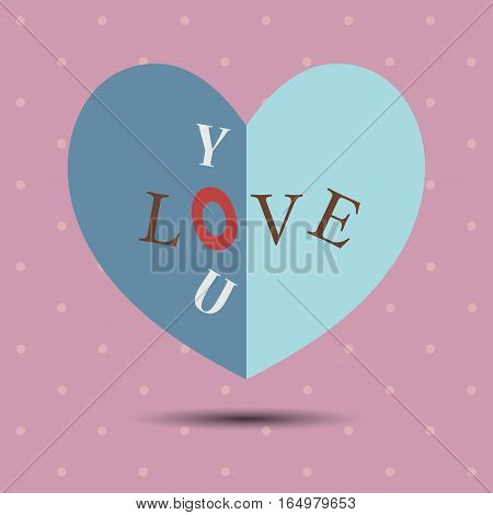 Happy valentines day and weeding design elements paper hearts or greeting card. Suitable for various designs invitation and scrapbook. Vector festive holiday illustration. EPS10