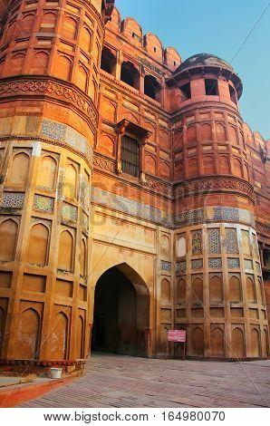Amar Singh Gate In Agra Fort, Uttar Pradesh, India