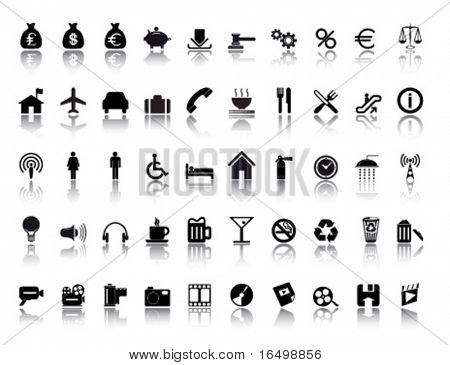 large miscellaneous icon set for web