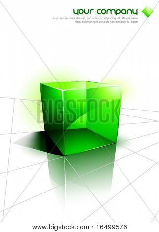 Green 3D Cube Design