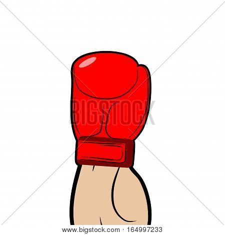 Boxer Hand In Glove Isolated. Sport Illustration