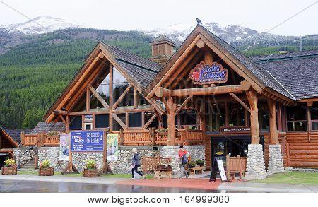 Lake Louise, Canada - September 5, 2016: Lake Louise Gondola Sta