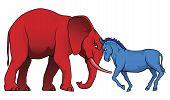 Постер, плакат: Американские политические партии Stand off