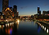 Melbourne's Southbank by Night