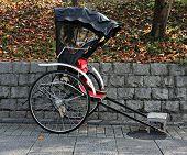 image of rickshaw  - Rickshaw in Kyoto - JPG
