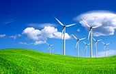 stock photo of windmills  - Windmill - JPG