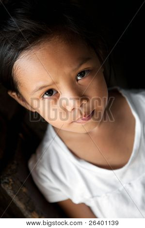 Asian girl portrait - natural light, Manila Philippines