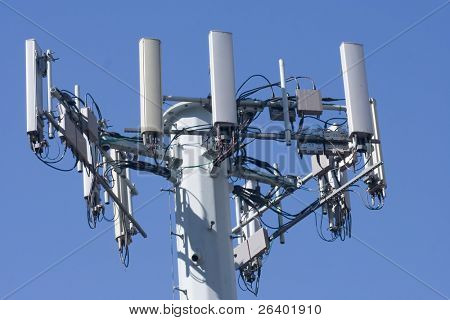 Cellular phone network telecommunication tower