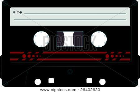 Vector Illustration Of Audio Cassettes