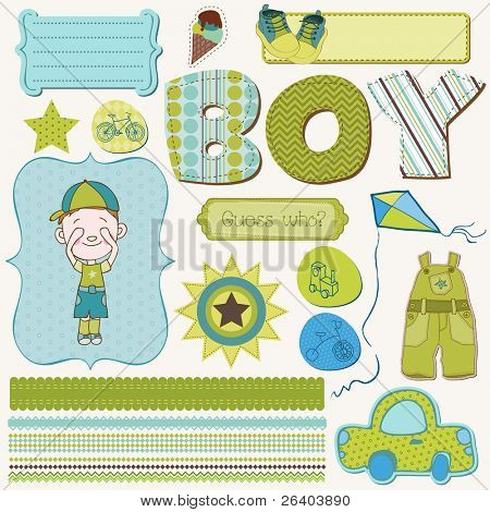 Scrapbook Boy Set - design elements