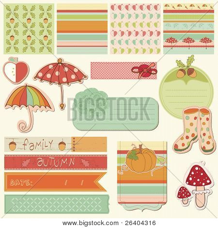 Autumn Cute Elements - for scrapbook, design, invitation, greetings