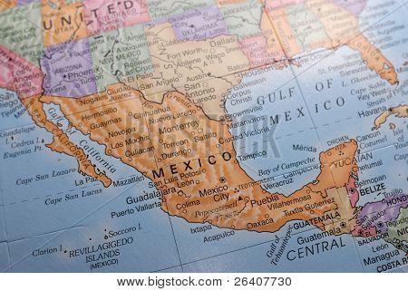 Macro Globe Map Detail 19 Mexico