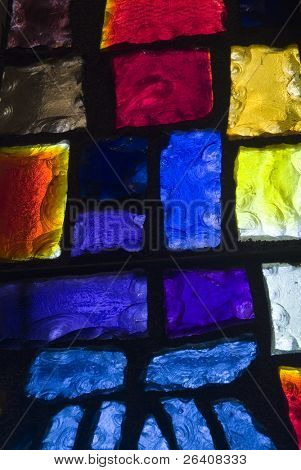 Rich colored stain glass panels background 06